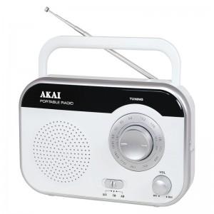 Akai PR003A-410W Φορητό αναλογικό ραδιόφωνο με είσοδο ακουστικών 1 W