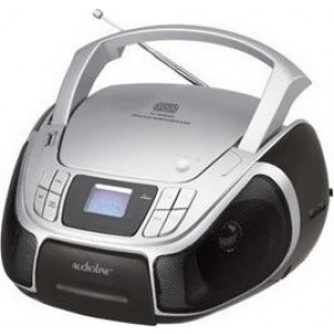 Audioline Boombox CD-96 Μαύρο-Ασημί