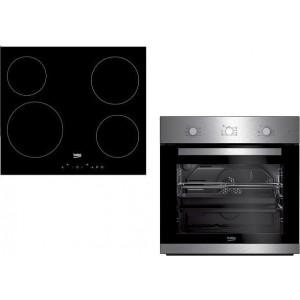 Beko Εντοιχιζόμενο Set Φούρνος BIE110X + Εστία HNIC 64400T