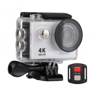EKEN Action Cam H9R, Ultra HD 4K, 12MP, WiFi, Remote, Waterproof, Silver H9R-BK