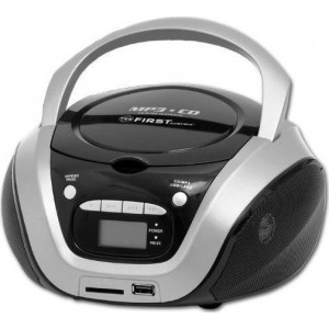 First FA-1154-2-GR Φορητό Ηχοσύστημα με CD-MP3, USB, SD και AUX IN 1.6W