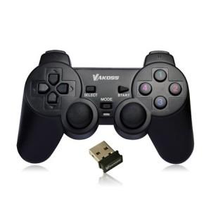 Vakoss GP-3925BK Wireless Gamepad, 10 buttons, 2 joystick, Black