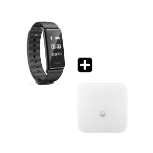 Huawei Color Band A2-AW61 Smartwatch Black+Ζυγαριά Body Fat Scale