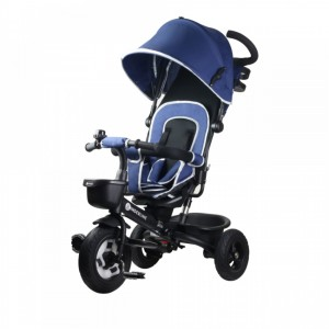 Kinderline TRC-711.1-BLUE Παιδικό καροτσάκι-ποδηλατάκι Μπλε