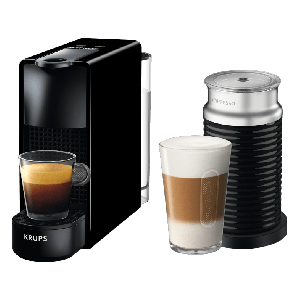 Krups Nespresso XN1118S Essenza Mini Καφετιέρα Krups Μαύρη μαζί με Aeroccino + δώρο κουπόνι αξίας 60€ για ροφήματα και αξεσουάρ!