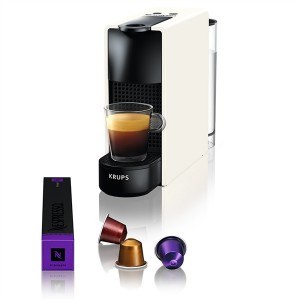 Krups Μηχανή Nespresso Essenza Mini Λευκή XN1101S & Δώρο κουπόνι αξίας 30€ για αγορά καφέ