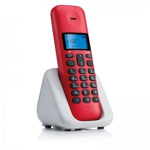 Motorola T301 Cherry Ασύρματο Τηλέφωνο DECT