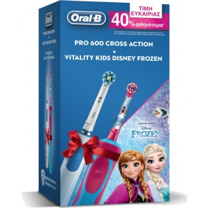 ORAL-B PRO 600 CrossAction & Vitality Kids Disney Frozen