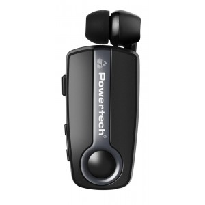 POWERTECH Bluetooth headset Klipp PT-732, multipoint, BT V4.1, γκρι