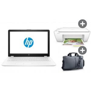 "HP Laptop 15-bw011nv A6-9220/4GB/1TB White + Πολυμηχάνημα HP 2130 + Τσάντα HP 15,6"""