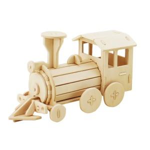 ROWOOD Ξύλινο 3D πάζλ τρένο DZ08, 23τμχ
