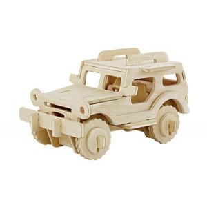 ROWOOD Ξύλινο 3D πάζλ Jeep JP232, 38τμχ