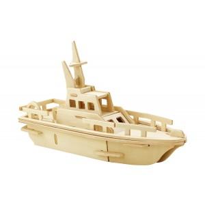 ROWOOD Ξύλινο 3D πάζλ σκάφος JP294, 24τμχ