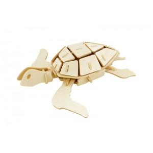 ROWOOD Ξύλινο 3D πάζλ θαλάσσια χελώνα JP295, 69τμχ