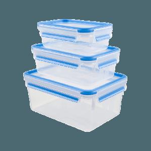 Tefal K30289 Σετ 3 Φαγητοδοχείων Clip&Close Πλαστικό
