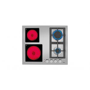 Teka EFX 60 2G 2H AI AL Ανοξείδωτο πλατώ εστιών με 4 ζώνες (2 γκαζιού & 2 High Light) και περιστρεφόμενους διακόπτες, στα 60cm