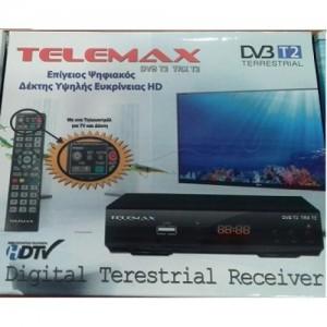 Telemax Ψηφιακός Δέκτης DVB T2 TRX T2
