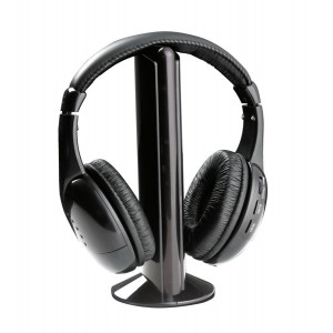 TITANUM TH110 Ασύρματα ακουστικά Liberty με FM tuner, μαύρα