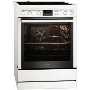 AEG Κεραμική Κουζίνα 347056 V-WN Λευκή 72Lt