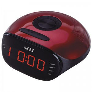 AKAI ACR-267 Ψηφιακό ξυπνητήρι με AUX-IN, ραδιόφωνο & διπλή αφύπνιση