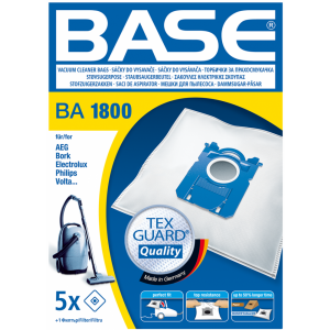 BASE Σακούλες ηλεκτρικής σκούπας BA 1800