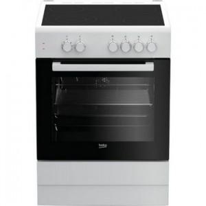 Beko Κεραμική Κουζίνα FSM 67010GW Λευκή 60cm A