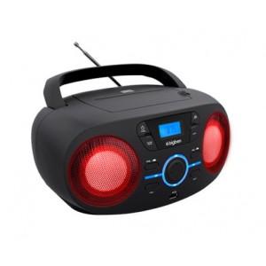 BIGBEN Φορητό ηχοσύστημα CD61NUSB, FM/CD/USB, LED, μαύρο