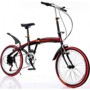 "Clever Bike 090017 Αεροδυναμικό έξυπνο σπαστό ποδήλατο  V2 20"" Κόκκινο"