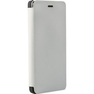 OEM Flip Wallet Case White + Tempered Glass (Doogee X5 / X5 Pro)