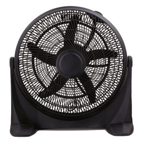 Eurolamp 147-29052 Ανεμιστήρας Box Fan Στρόγγυλος Μαύρος Φ50 90W