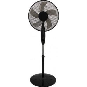 Eurolamp Ανεμιστήρας με Ορθοστάτη Μαύρος Φ50 60W 147-29027