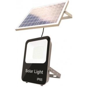 Eurolamp Προβολέας LED SMD Ηλιακός 20W IP65 DC6V 4000K ΜΑΥΡΟΣ PLUS 147-69590