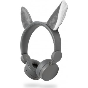 NEDIS On-ear ενσύρματα ακουστικά Animaticks Willy Wolf HPWD4000GY