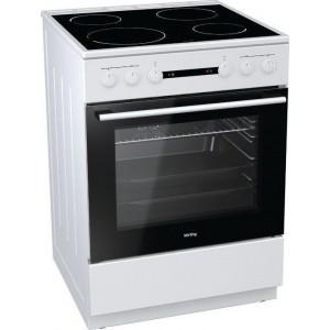 Korting KEC 6141 WPG Ηλεκτρική Κουζίνα Με 4 Εστίες Κεραμικές Λευκή