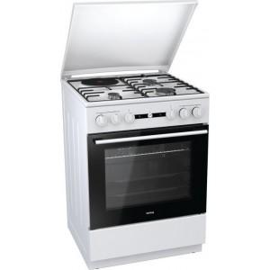 Korting KK 64 W Λευκή Μεικτή Κουζίνα Με 3 Εστίες Αερίου & 1 Εμαγέ