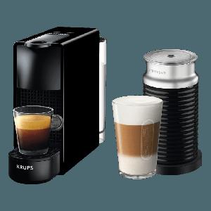 Krups Nespresso XN1118S Essenza Mini Καφετιέρα Krups Μαύρη μαζί με Aeroccino & Δώρο κουπόνι αξίας 30€ για αγορα καφε