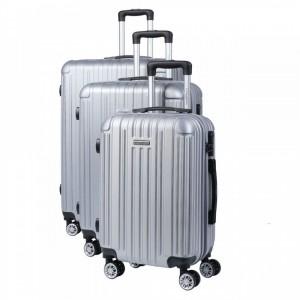 Manoukian Paris MAN-45-SI, Σετ βαλίτσες με χειραποσκευή 3τμχ ασημί