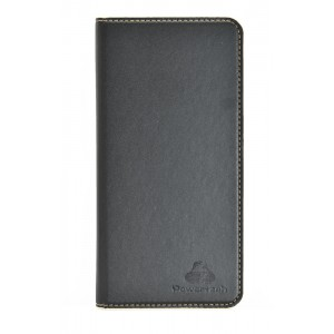 "POWERTECH Θήκη Magnet Leather Slide Wide για Smartphone 5.5-5.9"", μαύρη MOB-0959"