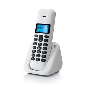 Motorola Ασύρματο Τηλέφωνο Τ301 Λευκό
