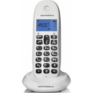 Motorola C1001LB Λευκό Ασύρματο Τηλέφωνο