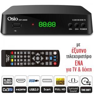 OSIO OST-2660D DVB-T/T2 Ψηφιακός Δέκτης με USB