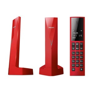 Philips Linea V M3501R/GRS Red Ασύρματο Τηλέφωνο