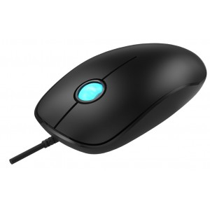 POWERTECH ενσύρματο ποντίκι, Μαύρο(PT-364)