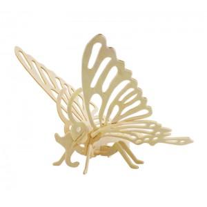 ROWOOD Ξύλινο 3D πάζλ πεταλούδα JP204, 16τμχ