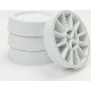 Roller Αντικραδασμικά Πέλματα για πλυντήριο και στεγνωτήριο Λευκά σετ 4τμχ(00671)