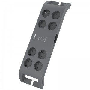 Philips SPN3180A/GRS Πολύπριζο ασφαλείας 8 θέσεων με διακόπτη