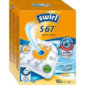 Swirl Σακούλες Σκούπας S67 Big Pack(10 τμ + 2 φίλτρα)