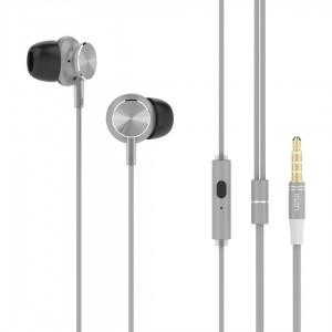UIISII earphones GT500, 96db, 1.2m, γκρι